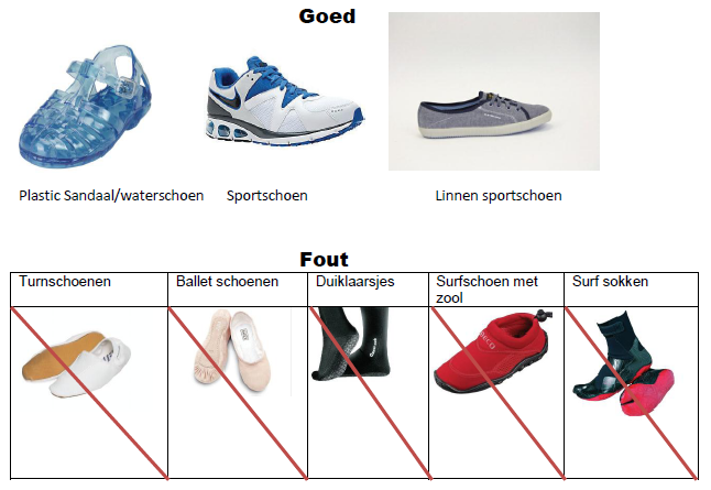 schoenen voor afzwemmen